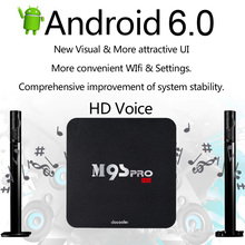 US Stock Docooler 2G/16G M9S-PRO Smart Android 6.0 TV Box Amlogic S905X Quad Core PC WiFi H.265 VP9 Miracast Media Player(China)