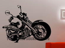 Bike Wall Sticker Motorcycle Decals Home Interior Design Room Wall Decoration Boys Room Wall Art Murals Waterproof Stickers 9mtz(China)