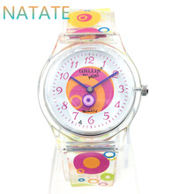 NATATE Sale hot Willis Dresses for Women Watches Waterproof Ladies Quartz Watch Branded Transparent Planet Resin Band Clock 6018(China)