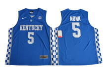 2017 Nike North Carolina Tar Heels Malik Monk 5 College Nike Ice Hockey Jerseys - Blue Color Size S,M,L,XL,2XL,3XL