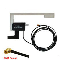Free Shipping Brand New Car Window Glass Mount DAB Digital Car Radio Aerial Stealth Antenna SMB Connector for Pioneer DAB(China)