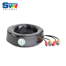 BNC Video Power Siamese Cable 60ft 18.3m for Analog AHD CCTV Camera DVR Kit Surveillance Accessories