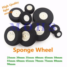 4pcs/lot high quality 25mm  ~  90mm sponge wheel rc airplane wheels high strength rc aircraft  electric rc airplane foam wheels