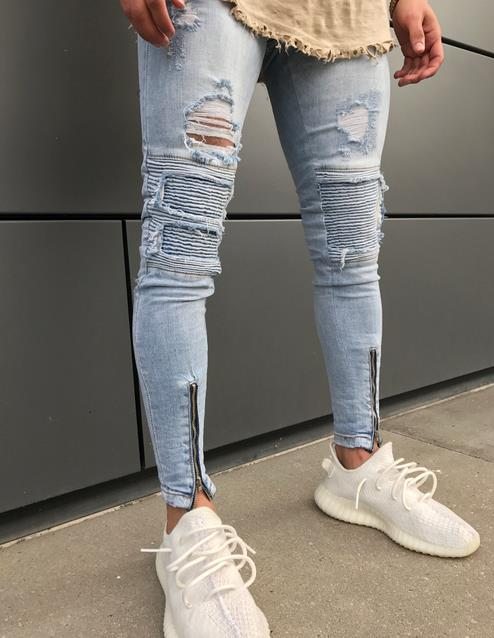 Men Hip Hop Gloria Jeans Skinny Jeans Men Zipper 2018 Fashion Denim Joggers Mens Jeans Moletom Masculino Plus Size Biker Jeans