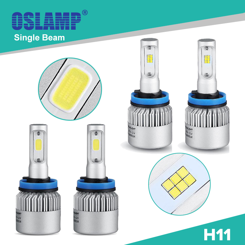 Oslamp Single Beam Led H11 Car Headlight Kits COB/CREE CSP Chip Auto Led Head Light Bulbs with Fan for SUV/Honda 1 pair Fog Lamp<br><br>Aliexpress