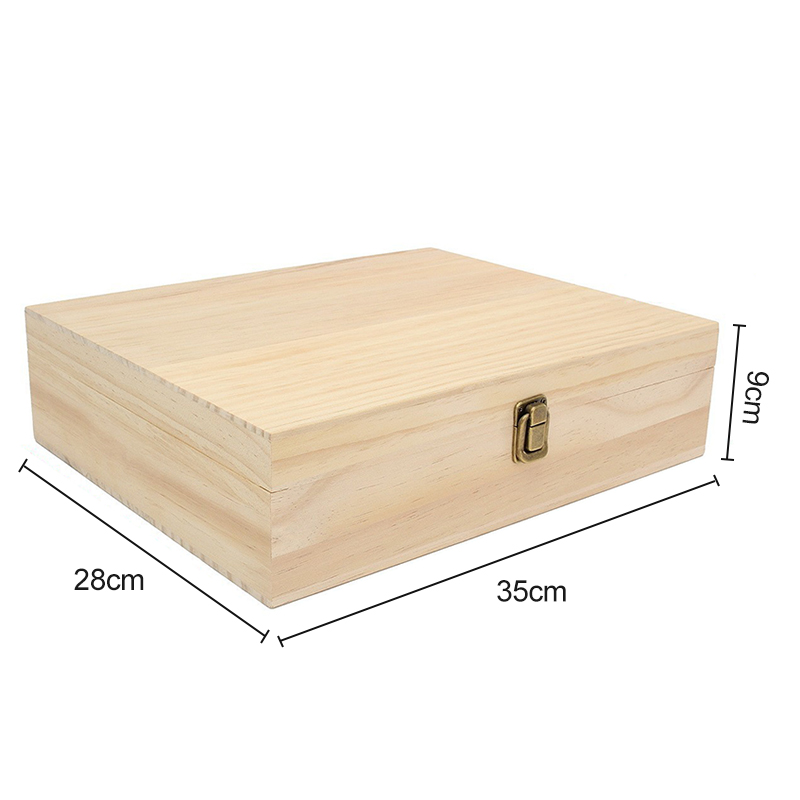 Solid Wood Essential Oil Bottle Storage Box Oversized Model Multiple Compartments Natural Essential Oil Display Case 6
