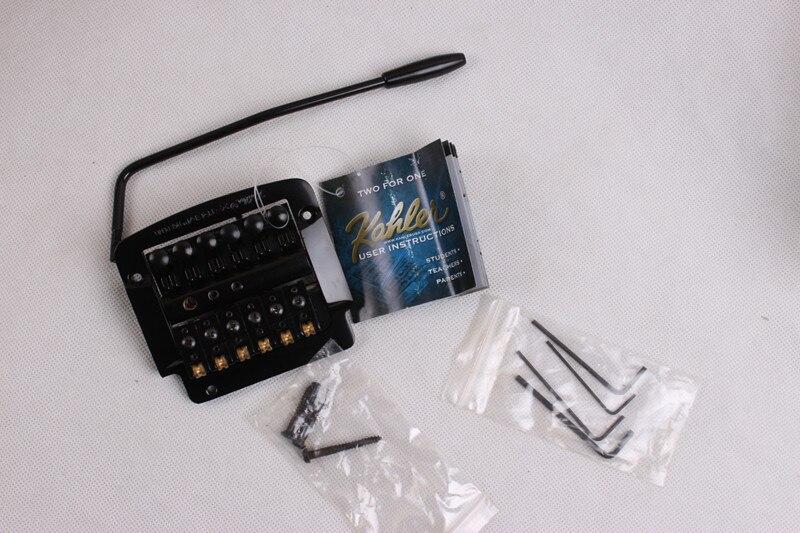 Kahler gemodificeerde electric guitar  staartstuk tremolo brug dubbele rol rocker 4300 zwart U. s.<br><br>Aliexpress