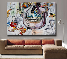 Huge hd Wall art Painting picture Free shipment DD$ Cartoon Montage Graffiti poster Art Picture Paint on Canvas Prints no frame