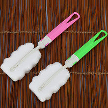 New Spin Sponge Baby bottle brush Newborn Feeding Milk Bottle Nipple Brush Cleaner Cleaning Tool1pcs