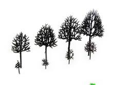 tree arm 3cm-16cm each size ho, n ,g scale model train layout miniature plastic model tree arm