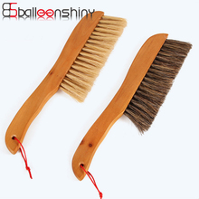BalleenShiny Windows Carpet Table Brush Nook Cranny soft bristle + wood handle anti-static dust brush For Home Cleaning Tools(China)
