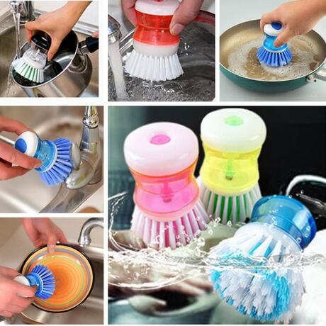 Newest Best Price Kitchen Wash Tool Pot Pan Dish Bowl For Brush Scrubber Cleaning Cleaner Plastic For Cleaning(China (Mainland))