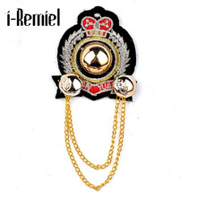 2017 Limited New Arrival Trendy Brooch Broche Pin Korean Version Of The Anchor Sea Naval Wind Badge English Chest Medal Corsage