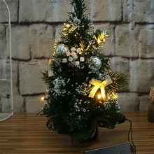 30cm Led String Light Christmas Tree Muniature Plastic Bedroom Desk Decoration Gift Tree Xmas Luminous Lighting Trees 2017 sale(China)