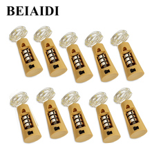 BEIAIDI 2M 20Leds Wine Bottle Cork Copper Wire Fairy String Light Battery Operated Starry Rope Fairy Light Wedding String