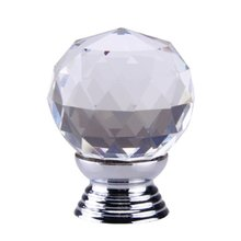 Best Selling Clear Crystal Glass Cabinet Drawer Door Knobs Handles 30mm(China)