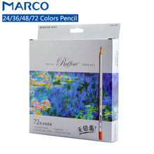 Marco Raffine 24/36/48 Colors Fine Art Non-toxic Drawing Color Pencil Lapis De Cor Professional Colored Pencils School Supplies(China)