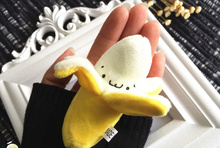 Sweet NEW 6CM Approx. Plush Stuffed Banana Toy Doll , Use as hair tie 6cm Plush Stuffed TOY Banana DOLL