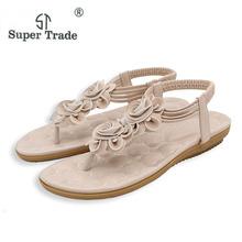 2017 New Sweet Beauty Sandals Bohemia Flower Sandas Fashion Summer Shoes Women Casual Shoes Women Sandals Size 35-41 ST28-7(China)