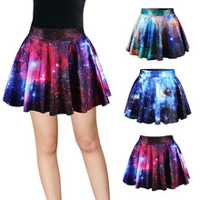 Buy 3d Printed Starry Sky Pattern High Waist Ball Gown Skirt Funny A-Line Mini Skirt Female Harajuku Jupe Tulle Femme Sexy Skirts for $8.21 in AliExpress store