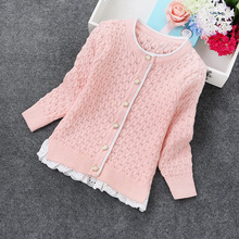 2017 new spring girls sweaters fashion cardigans girls cardigan 2-6years children sweaters 8230