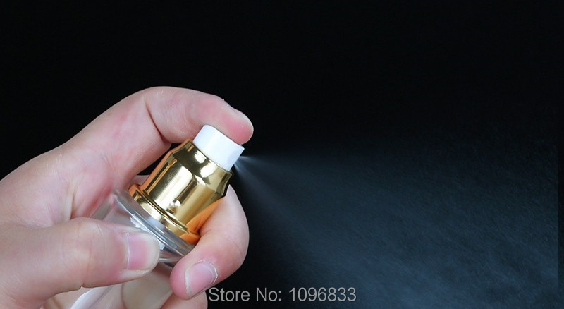 Clear Glass Bottle Gold Lotion Pump Bottle 50ML 60ML 80ML Cosmetic Packaging Container Gold Lid Glass Spray Bottles (3)