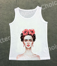 Track Ship+Fresh Hot Tops Top Vest Tanks Camis Young Pink Naked Frida Artist Drawing Two Peony Flower 0942