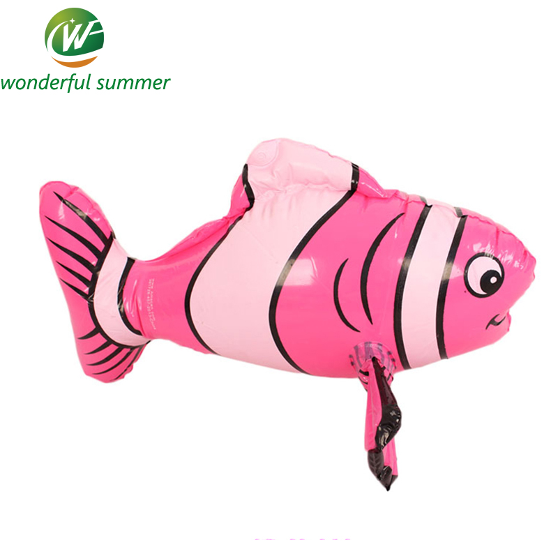 43cm Pink Yellow Orange Striped Fish Children Inflatable Water Toy Swim Pool Float Bath Toys Baby Fish Ballon Air Mattresses