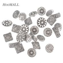 Hot 50PCs Mixed Metal Shanked Buttons Pattern Engraved Silver Tone Jeans Buttons Sewing Buttons Scrapbooking Crafts(China)