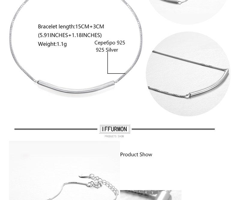 IFFURMON Fine Bracelets Sterling Silver Bangles Wedding Anniversary Round Charm Bracelet For Women Silver 925 Bracelet (2)