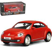 RMZ City 2012 Volkswagen Beetle 1:32 Toy Vehicles Alloy Pull Back Mini Car Replica Authorized By The Original Factory Model Toys(China)