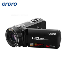 Ordro HDV-Z80 Digital Video Camcorder HD 1080P 30FPS Recording 10x Optical Zoom Camera with Remote Control HDMI Output USB Port