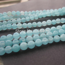 2Strands Natural Stone Beads 4mm SyntheticBlue Amazonite Round Beads  for jewelry making Fashion Accessoires