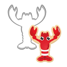 Novelty 3D Lobster Shape Cookie Cutters Stainless Steel Biscuit Tools Bakeware Sugarcraft DH076(China)