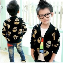 Free shipping children clothes spring/autumn period and the new children's thin The boy's coat jacket cardigan skulls(China)
