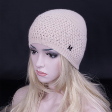 2016 Winter Newest cashmere Beanies Hat Luxury diamond Fashion Lady wool knitted cap high quality thick snow cap