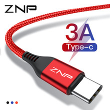 ZNP 3A USB Type C Cable Xiaomi Redmi Note 7 USB-C Mobile Phone Fast Charging Type-C Cable Samsung Galaxy S9 S8 Plus S10