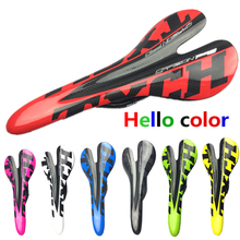 Bicycle saddle glossy carbon saddle Front Seat Mat Multi color 3k full carbon fibre cycling MTB road bike seat bicyle parts