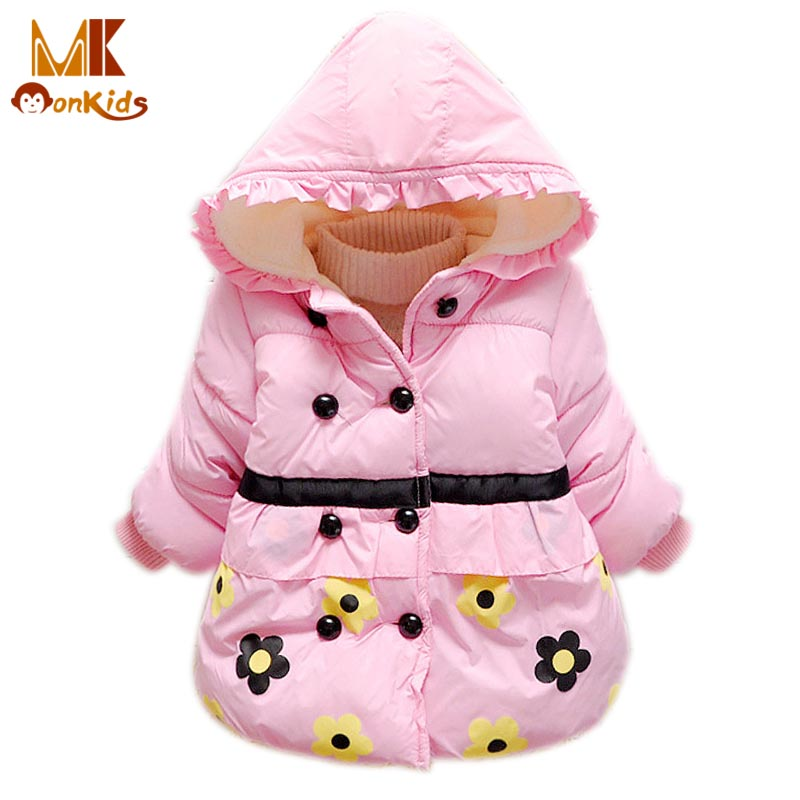 Monkids Girls Baby Winter Jacket Winter Girl Coat Jacket Childrens Clothing Floral Outerwear Down Parkas Kids Clothes ParkasОдежда и ак�е��уары<br><br><br>Aliexpress