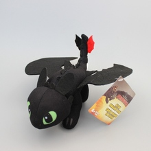 Wholesale 30 Pcs/Lot How To Train Your Dragon 2 Plush Toy Toothless Dragon Stuffed Animal Dolls EMS Free Shipping