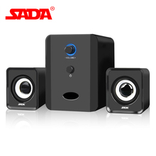 Original SADA D-201 Mini Wired Portable Combination Speaker Column Computer Speaker 2.1 USB Channels 3W Laptop Speakers PC