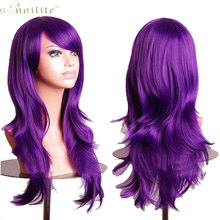 "SNOILITE 23"" Cosplay Wig Hallowee Anime Wig Synthetic Hair Long Wave Synthetic Hair Purple"