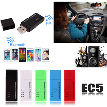 5V USB Car V4.2 + EDR Bluetooth FM Transmitter 10 Meters USB Charge Radio Adapter High Quality for Mobile Phone(China)