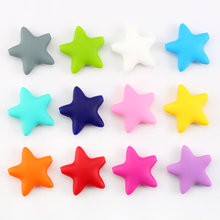 Buy Fashion BPA Safe Star Shape Loose Silicone Beads Baby Teether Silicone Teething Beads Teething Necklace,20pcs/lot for $9.51 in AliExpress store