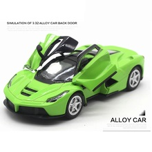 New Version Alloy Sport Car, size 12.5cm Car Model, Good quality with light and sound(China)