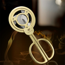 New Fashion 2 Colors Circle Cohiba Cigar Cutter High Quality Cigar Knife Cigar Scissors Tools Accessories With Gift Box CC04