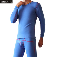 Mens Thermal Underwear Set Tick Plus Fleece Tops and Velvet Pants Long Johns Men Warm Winter Leggings Termica Thermo Underwear(China)