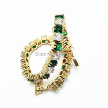 Top sell New Spring High Quality Brand AAA Zircon Bracelet stone Green Gem Cubic Zirconia Bracelet Tennis Jewelry For Women