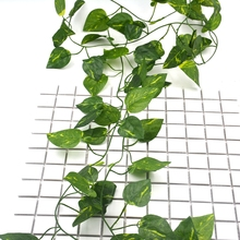 1.8 M/pcs DIY Leaf Silk Artificial Flower Foliage Vine For Wedding Party Home Room Picture Frame Decoration Rattan Leaves Crafts(China)