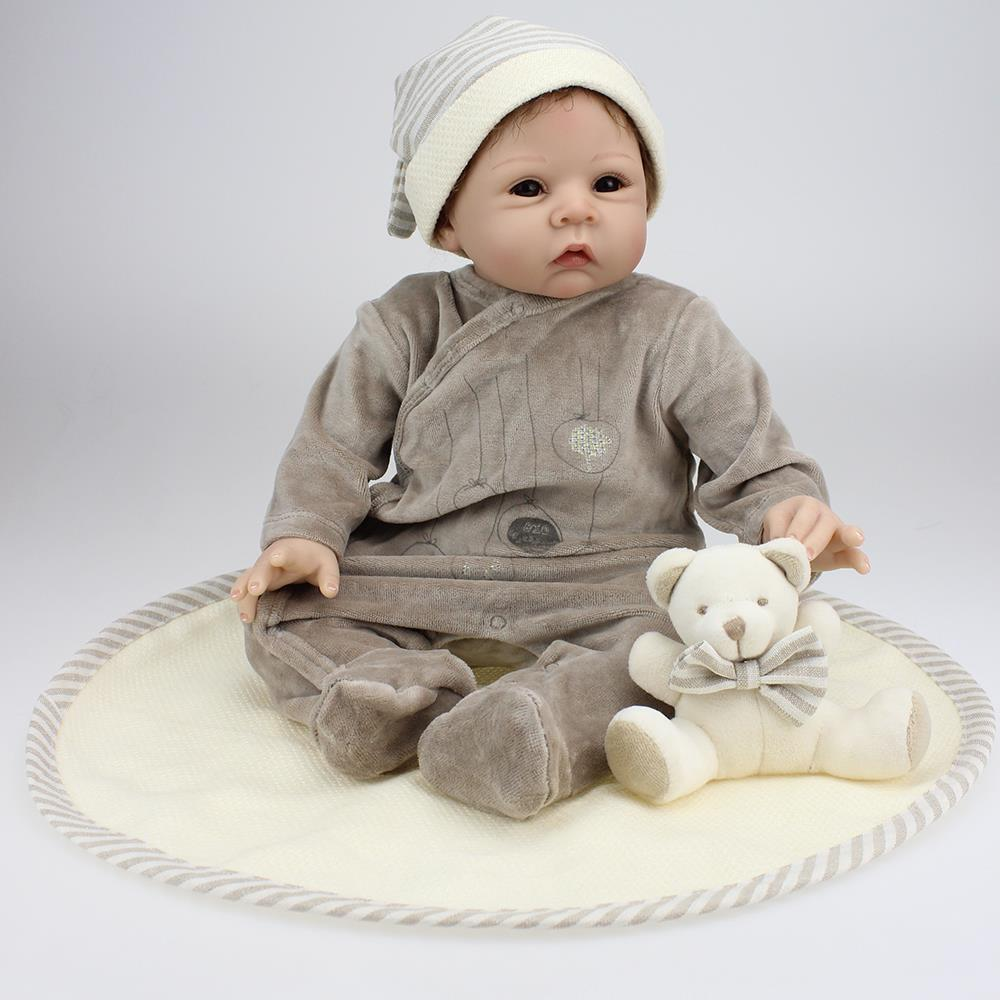 UCanaan 50-55cm Top Quality Silicone Reborn Babies Doll Classic Toy Lovely Reboen Baby Dolls Alive Reborn Preemie Toys For Kids<br><br>Aliexpress